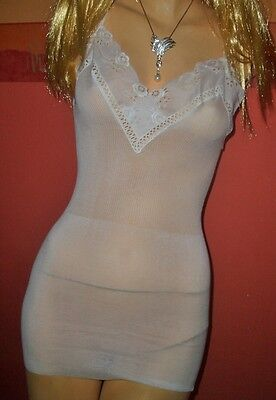 RAR Vintage Luxus Bleyle Unterhemd Chemise Gr. 40 weiß ungetragen OVP  (H595) 2