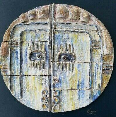 Medio Siglo Modernista Cara Pared Escultura, Atribuido a Maurice Calka 2