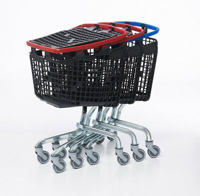 Red Shopping Trolley Small Supermarket Cart Araven Loop Trolley 100L 4