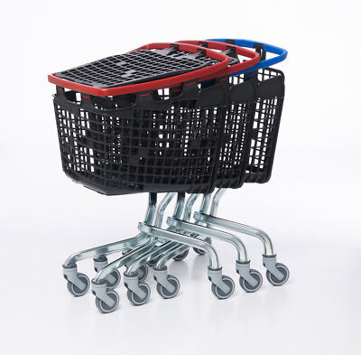 Yellow Shopping Trolley Small Supermarket Cart Araven Loop Trolley 100L 4