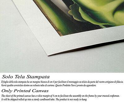 🌹Quadro Tamara de Lempicka Donna in Verde Stampa su Tela Vernice Pennellate 2
