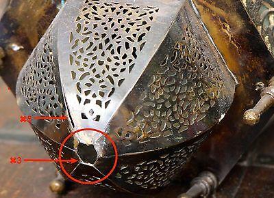 Antique Vintage Old Ornate Brass Bronze Lantern Chandelier 12 lb Hanging Lamp