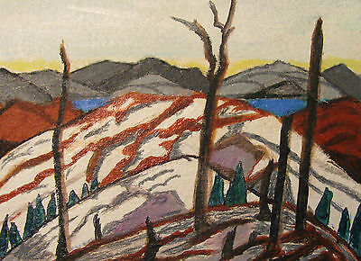 """A809          Acrylic Art Aceo Painting By Ljh      """"Snowy Landscape"""" 11"""