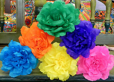 Mexican crepe paper flowers set of 6 multicolor rosewe make special 7 of 9 mexican crepe paper flowers set of 6 multicolor rosewe make special orders mightylinksfo