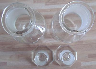 2 Stück Assistent Glas Gläser NS 34,5 W.Germany Normschliff 4