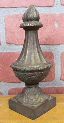 Antique Brass Flame Finial Ornate Original Old Architectural Hardware Element 8