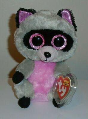"TY Beanie Boos 3/"" ROCCO Raccoon Keychain Plastic Clip Stuffed Animal Plush MWMTs"