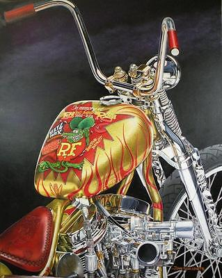Indian Larry Rat Fink Daddy-O Bike Signed Ltd Edition Motorcycle Art Print by JG 4