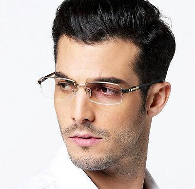 25e85a8e1e8b ... Men's 100% Pure Titanium Eyeglass Frames Glasses Half Rimless Spectacles  Eyewear 4