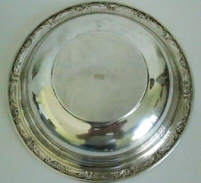 """Vintage Reed & Barton Solid Sterling Silver Plate, Burgundy 9.5"""" 250 Grams X745 2"""