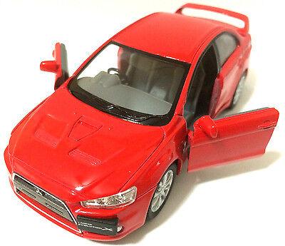 "set of 3 x1:36 Scale 2008 Mitsubishi Lancer Evo Evolution X diecast CAR model 5/"""