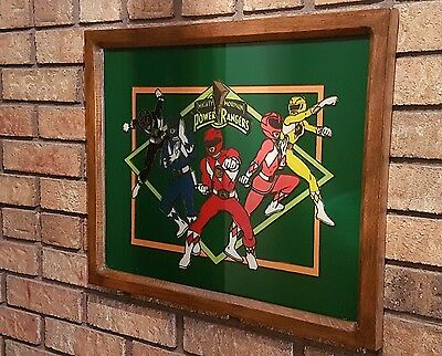 Hand Painted And Framed Power Rangers Artwork 2