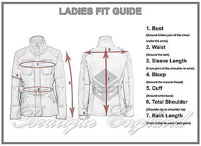 Ladies Biker Leather Jacket Black /'Skull Studded/' Rock Fashion Gothic 2740
