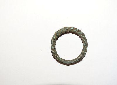 Goodly Twisted  bronze  Viking finger ring . ca 800-1000 AD. Kievan Rus. Viking. 7