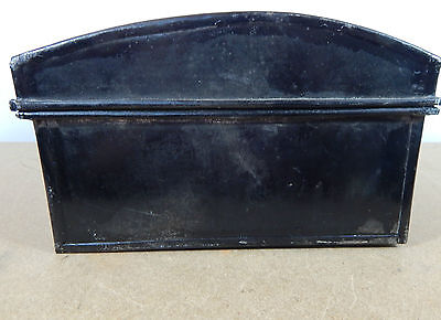 Vintage Tin Dome topper small storage chest Stationary etc 33cm x22cm hasp catch 4