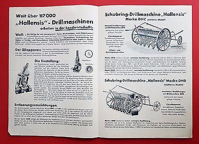 Prospekt von Lindner Ammendorf bei Halle 1935 HALLENSIS Drillmaschinen ( F16382