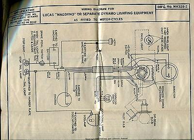 1930s vintage lucas wiring diagrams ariel motorcycle rh picclick com ariel colt wiring diagram ariel square four wiring diagram