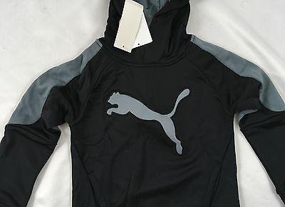 77553eb0eb60 PUMA BOY S SWEATER Hoodie Black Grey Logo KIDS Size 5 -  18.99 ...
