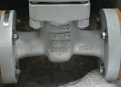 "KITZ UMAMY 1 1/2"" IN  SS CF8M flanged gate valve DN40 Cl 600 5"