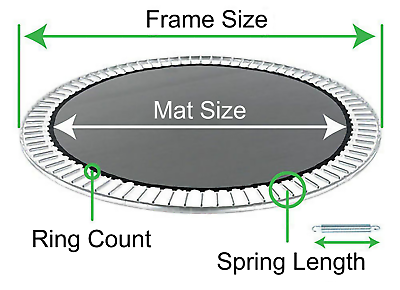 Trampoline Replacement Jumping Mat (Choose 8 10 12 14 or 15 foot) Trampoline Pro 4
