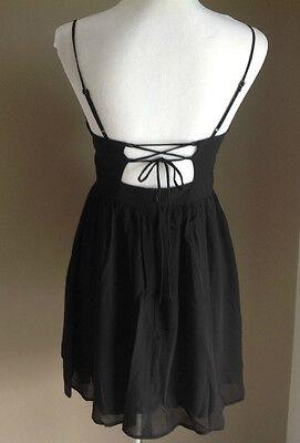 Bulk Lot x 7 NEW Dresses Black Chiffon Lace Up Back Sizes 6 - 12 Styla Label 5