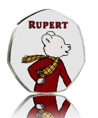 RUPERT BEAR FULL COLOUR COMMEMORATIVE. 50p COIN COLLECTORS. 100 YEAR ANNIVERSARY 3