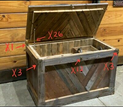 4 Square Antique Industrial Solid Brass Box Chest Corner Bracket, Brace,Pcs. #X3 8