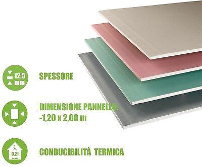 5 Pannelli in Cartongesso Sp 200x120cm 12,5mm Controsoffitto Parete Italfrom