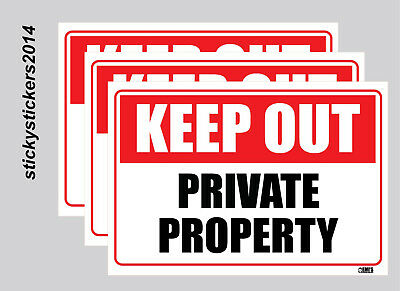 Keep Out Private Property Metal Safety Sign 600x450mm Fast Delivery 6