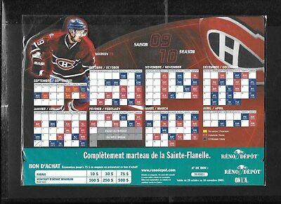 Montreal Canadiens Molson Pocket Schedule & Display Rack Nhl Hockey See List 11