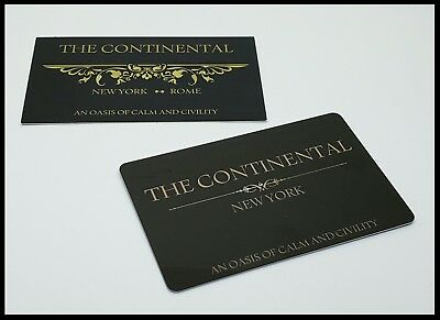 John Wick Continental Hotel Room Card Reeves Mcshane No Coin Baba Yaga Berry 10