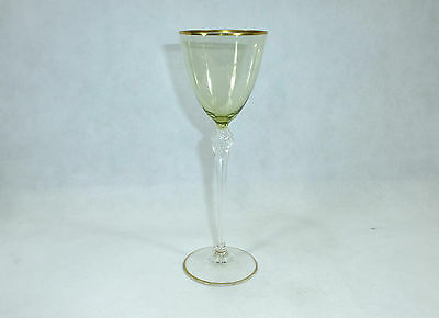 Ausgefallenes Glas mit vergoldeten Rand Josephinenhütte um 1900 2