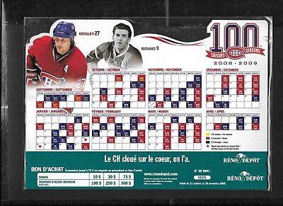 Montreal Canadiens Molson Pocket Schedule & Display Rack Nhl Hockey See List 8