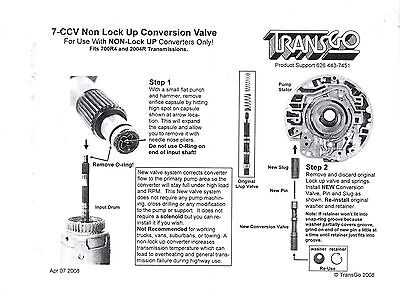 700r4 With Lockup Converter as well 700r4 Lockup Wiring Diagram Switch together with 700r4 Torque Converter Wiring as well Hydramatic also Lockup To Non Lockup Converter Valve CONVERSION KIT Fits 700 R4 Transmissions 141662168173. on 700r4 transmission lock up torque converter
