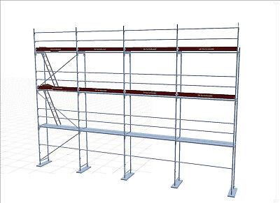Neues Alu  Gerüst  Baugerüst Assco ca. 86 m² incl. 2 Durchstiege