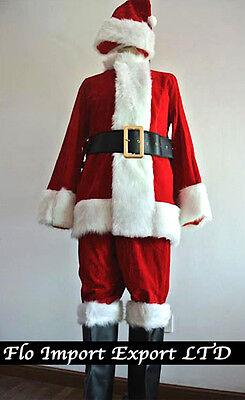 Vestito Costume Babbo Natale Deluxe Cosplay Santa Claus Christmas Suit SANTC03 P