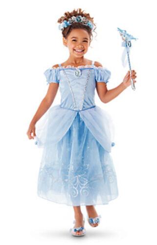 Mädchen Prinzessin Kostüm Kinder Aurora Rapunzel Cinderella Karneval Party Kleid 10