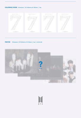 BTS [MAP Of THE SOUL:7] Album RANDOM CD+POSTER+Foto Buch+Lyric+Buch+2p Karte+etc 11