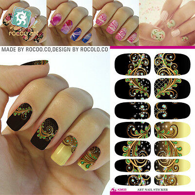 1sheets Nail Art Water Transfer Stickers 3d Design Manicure Tips