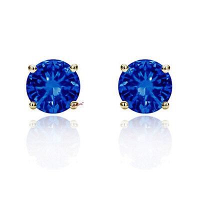 4ct CZ Stud Earrings Brilliant Cut Cubic Zirconia men women 10mm 14K gold plated 8