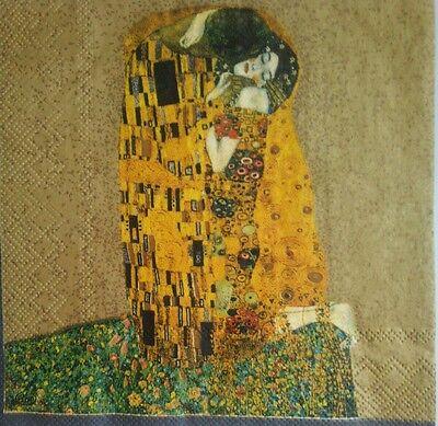 Servilletas para decoupage, 4 unidades.Klimt.Decoupage Paper Napkins,Crafts 2
