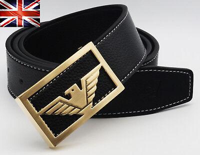 1 of 7 Mens Designer Belts Luxury Falcon Buckle Leather H Belt For Men Gift  Fashion 61036128c74