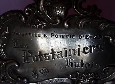 Les Potstainiers Hutois Werbeaufsteller Zinn Schaufenster Werbung Belgien