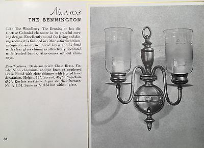 Vintage Lighting five 1930s Colonial Revival sconces by Chase Brass 2
