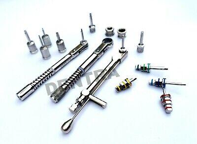 3 x Dental implant Torque Wrench Ratchet & Hex Screw & Hand Drivers Set New 2