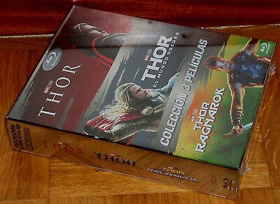 Thor Trilogia 3 Peliculas 3 Blu-Ray Nuevo Precintado Aventuras (Sin Abrir) R2 3