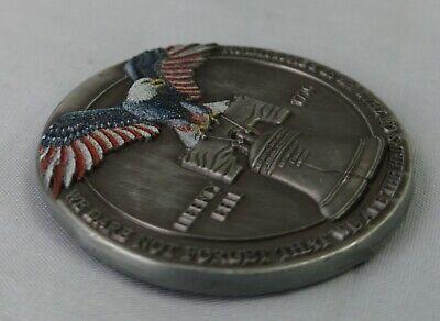 LIBERTY Bell Silver Coin Eagle Anchor Snake 3D Antique Americana Pennsylvania US 4