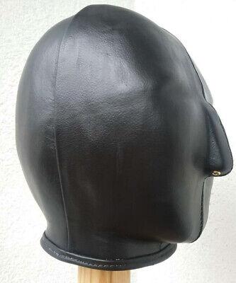 100 % Ledermaske, schwarz, handgefertigt. 100 % Leather Mask, handmade, black 5