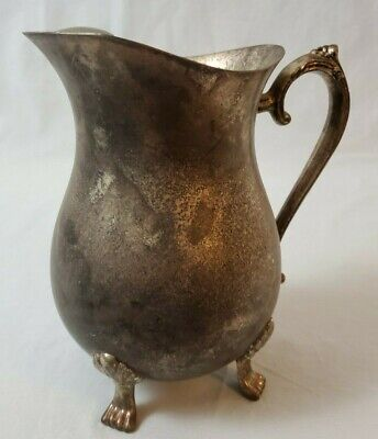 Vintage Leonard Silver Plate Footed Water Pitcher with Ice Lip 2