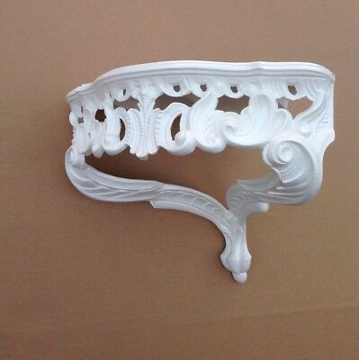 Wall Console Antique White Barok Shelf 38x28 Mirror Corner Flower Stand 7
